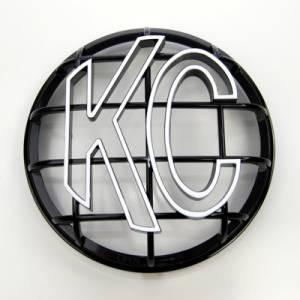 "KC HiLiTES - KC HiLiTES 6"" Apollo Stone Guard - KC #7216 (Black with White KC Logo) 7216 - Image 1"