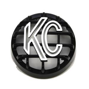 "KC HiLiTES - KC HiLiTES 4"" Stone Guard - KC #7219 (Black with White Logo) 7219 - Image 2"