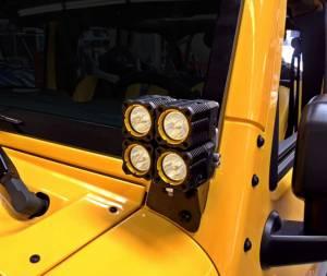 KC HiLiTES - KC HiLiTES Windshield A-Pillar Light Mount Brackets for Jeep Wrangler JK 07-18 - #7316 7316 - Image 3