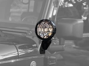 KC HiLiTES - KC HiLiTES Windshield Side Mount Light Bracket for Jeep JK (2007-2018) - Black - KC #7317 7317 - Image 1