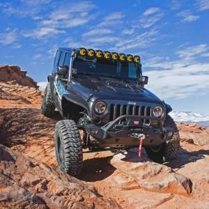KC HiLiTES - KC HiLiTES Gravity LED Pro6 07-18 Jeep JK 8-Light Combo Beam LED Light Bar - #91313 91313 - Image 5