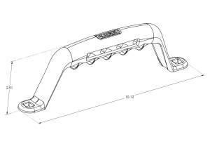 Carr - Carr Grab Handle Black. Corroision resistant die cast Aluminum 200031 - Image 3